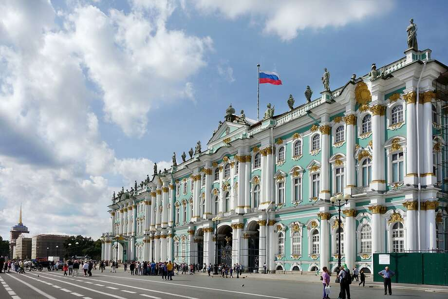St. Petersburg's enormous Winter Palace, once the home of the czars, is now the home of the Hermitage Museum. RS13Summer_0692.JPG Photo: Rick Steves