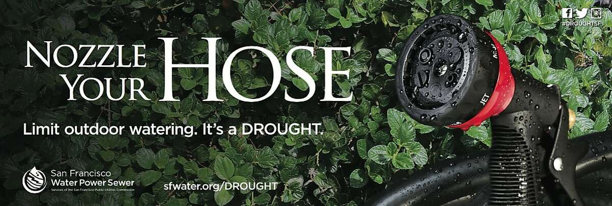 The San Francisco Public Utilities Commission is seeking to conserve water during the drought through a racy ad campaign.