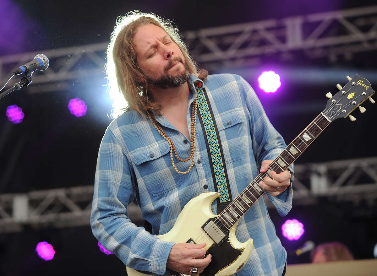 Rich Robinson performs with his band, The Black Crowes, at the 18th annual Gathering of the Vibes Musical Festival at Seaside Park in Bridgeport, Conn. on Sunday, July 28, 2013.