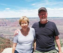Sally Swope and Rick Lawton of San Francisco at the Grand Canyon.