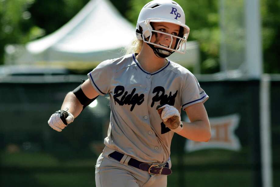 Ridge Point freshman pitcher Makinzy Herzog rounds the bases after her three-run home run in the top of the sixth inning against Aledo during the UIL Class 5A State Softball semi-final at McCombs Field in Austin last week. Photo: Jerry Baker, Freelance