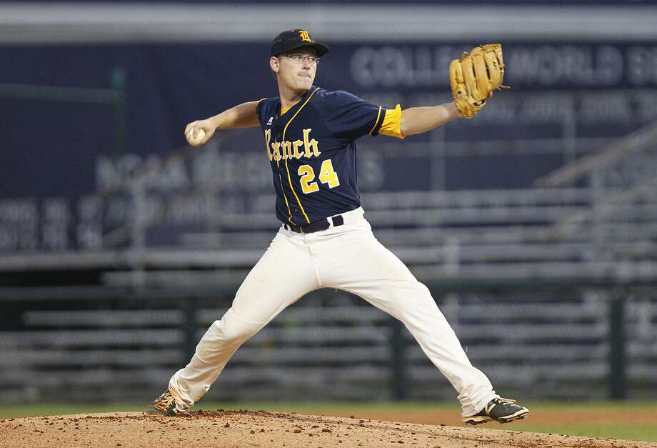 Cy Ranch pitcher Riley Gossett and the Mustangs hope to bring home a state championship from their trip to the UIL Class 6A Tournament in Round Rock this weekend. Photo: Diana L. Porter, Freelance / © Diana L. Porter