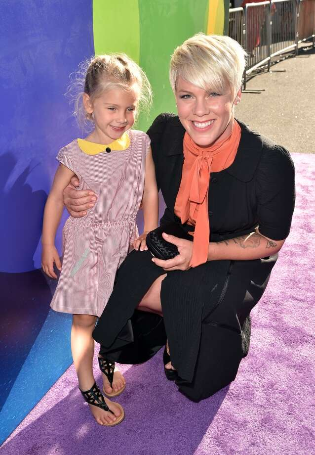 "Singer/songwriter Pink (R) and her daughter Willow Sage Hart attend the Los Angeles premiere of Disney-Pixar's ""Inside Out"" at the El Capitan Theatre on June 8, 2015 in Hollywood, California.  (Photo by Kevin Winter/Getty Images) Photo: Kevin Winter, Getty Images"