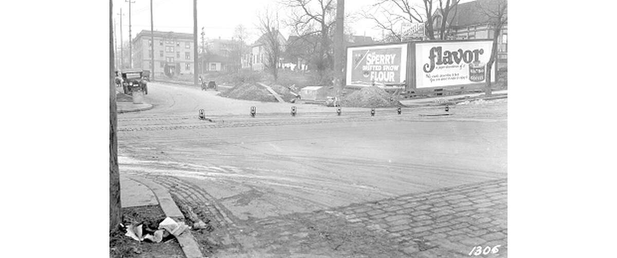 The intersection of 14th Street and Yesler Way, pictured Nov. 19, 1922.
