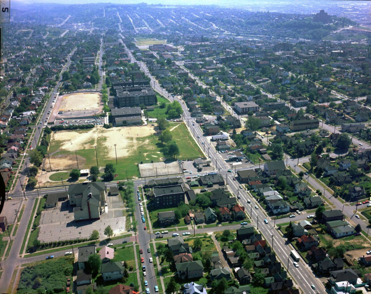 Garfield High School and the surrounding area, pictured in a May 20, 1968 photo.
