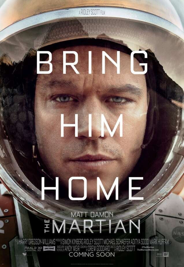 "Matt Damon plays Mark Watney in the much-loved (by more than just us geektards!) ""The Martian"" by Andy Weir.  Movie still from 20th Century Fox — check out the details and more on that site."