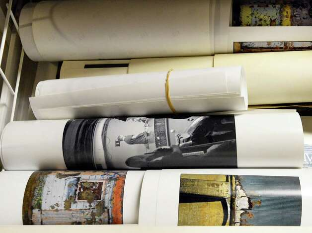 Rolled up photographic prints of the late photographer Joseph Schuyler at his home Tuesday June 2, 2015 in Delmar, NY.  (John Carl D'Annibale / Times Union) Photo: John Carl D'Annibale / 00032095A
