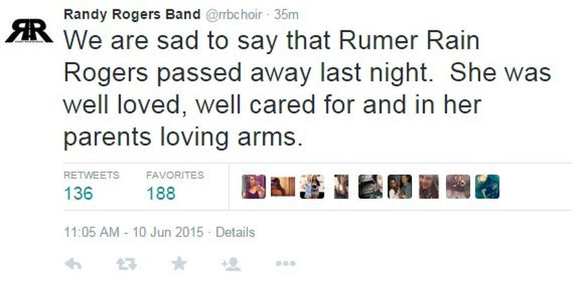Less than a week later the band announced the sad news of Rumer's passing via social media.