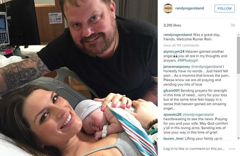 "A photo was also posted on Instagram the day Rumer was born. ""Was a great day, friends. Welcome Rumer Rain,"" the post said.  Photo: Mendoza, Madalyn S, Instagram.com/Twitter.com"