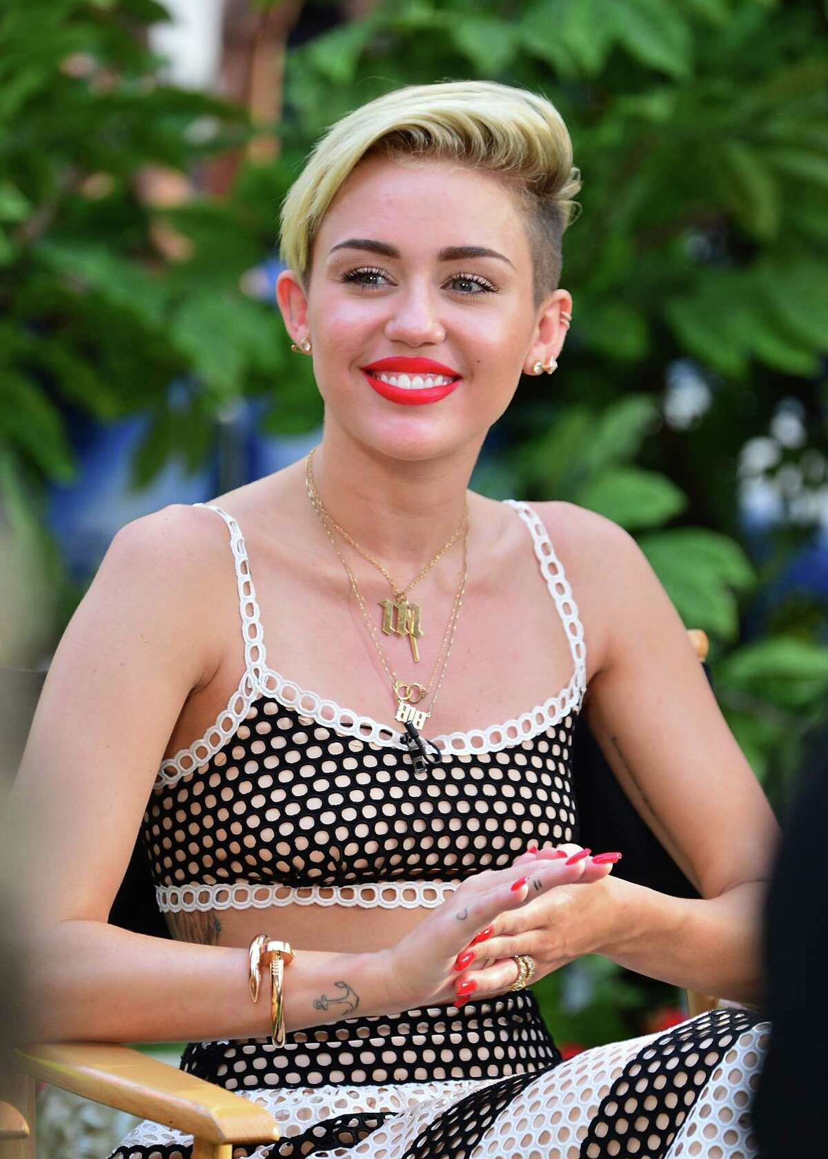 It's not that she couldn't have her, well, normal moments. Here Miley Cyrus visits ABC's 'Good Morning America' on July 15, 2013. in New York. Even she understands that twerking on a morning show will cause retirees all over American to drown in their corn flakes.