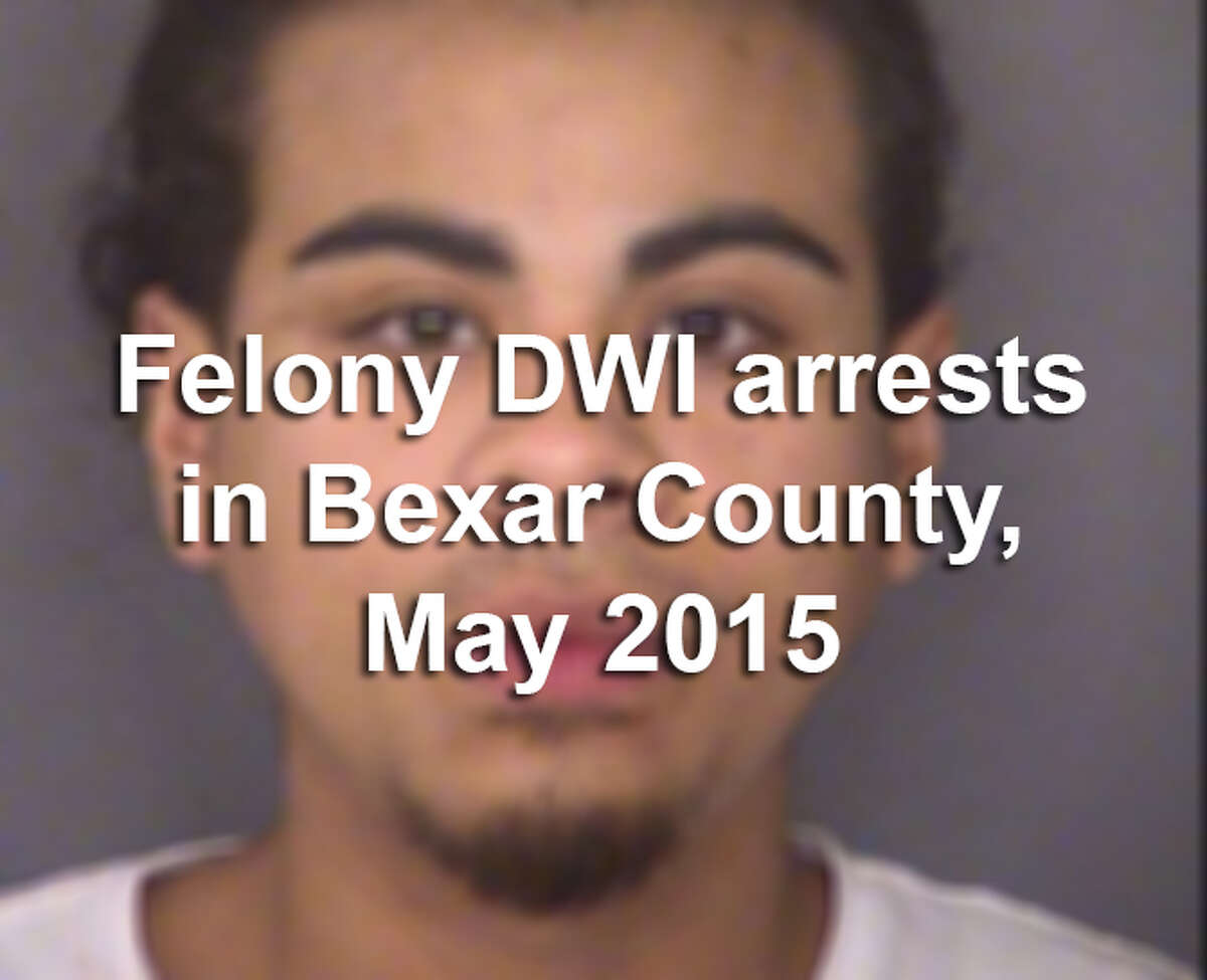 At least 60 people in Bexar County were arrested on drunken driving charges in May 2015, according to the Bexar County District Attorney's Office.