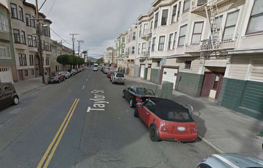 A 75 year old man assaulted a 69 year old woman in a building on the 2200 block of Taylor Street in San Francisco. Photo: Google Maps