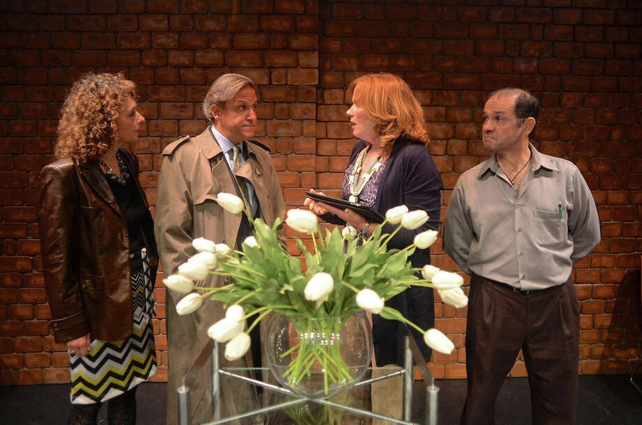 "The cast of ""God of Carnage,"" from left, Jessie Gilbert, Larry Reina, Eileen Lawless and Gary Betsworth. Darien Arts Center Stage, the community theatre group of the Darien Arts Center, has received five nominations for the 2015 On Stage Critics Awards. Nominees include the cast of ""God of Carnage"" for Outstanding Cast in a Play; Mark Graham, director of ""God of Carnage,"" for Outstanding Director of a Play; Will Jeffries in ""On Golden Pond"" for Outstanding Actor in a Play; Jessie Gilbert in ""God of Carnage"" for Outstanding Actress in a Play; and ""God of Carnage"" for Outstanding Play. The public may vote for their choices until June 14  at onstageblog.com. Photo: Contributed / Contributed Photo / Darien News"