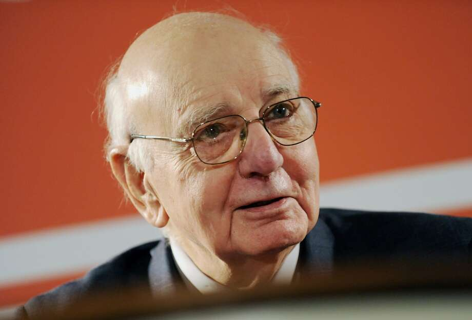 Paul Volcker, former chairman of the U.S. Federal Reserve, has issued a new in-depth report through the Volcker Alliance, a nonpartisan group that he founded, on budgeting in three states. Photo: Peter Foley, Bloomberg