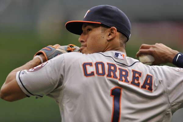 Carlos Correa: June 8, 2015       The shortstop and first overall pick in the 2012 draft went 1 for 4 with an RBI in a 3-1 road loss to the White Sox.