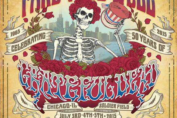 "Grateful Dead, ""Fare Thee Well"" banner."
