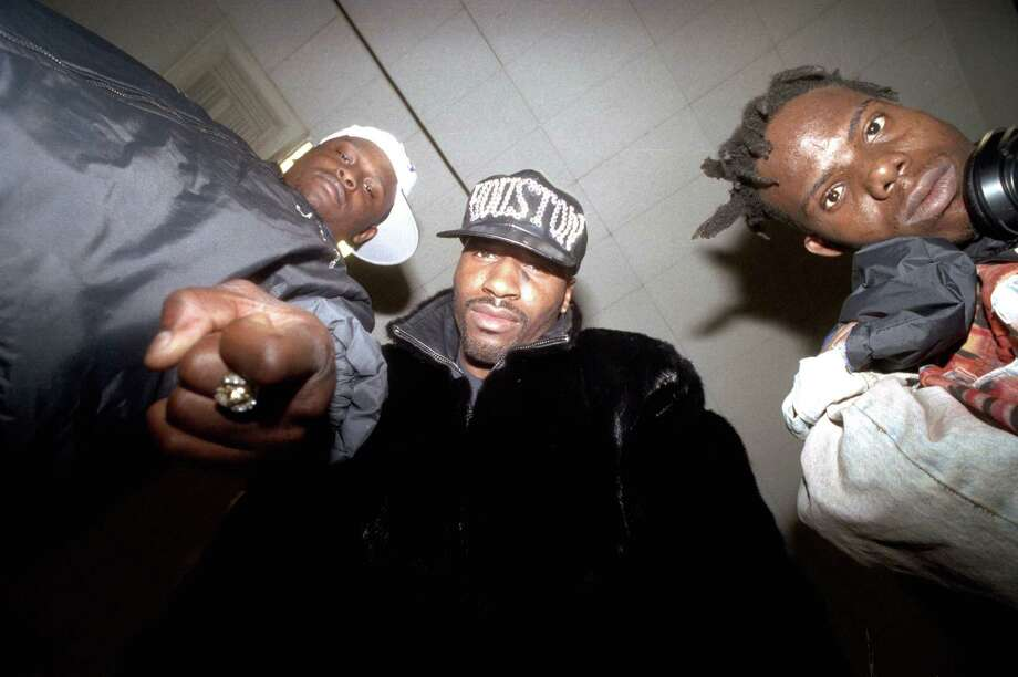 The Geto Boys, from left, Scarface, Willie D and Bushwick Bill, in their Houston prime. The trio recently announced a Kickstarter campaign to fund a new album, their first in a decade. Photo: Ben DeSoto, Staff / Houston Chronicle