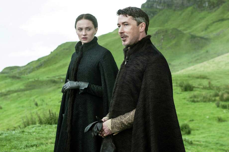 """Sansa Stark, pictured on the left, has pretty good odds of surviving season six along withPetyr """"Littlefinger"""" Baelish. Odds of death:50/1 for both Photo: Helen Sloan, HONS / HBO"""