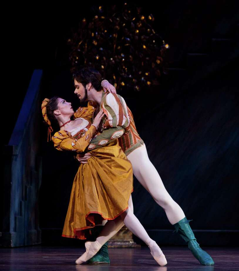 """Houston Ballet's Melody Mennite and Connor Walsh in John Cranko's """"The Taming of the Shrew,"""" which returns to Wortham Theater Center June 11-21. Photo: Amitava Sarkar, Photographer / ONLINE_YES"""