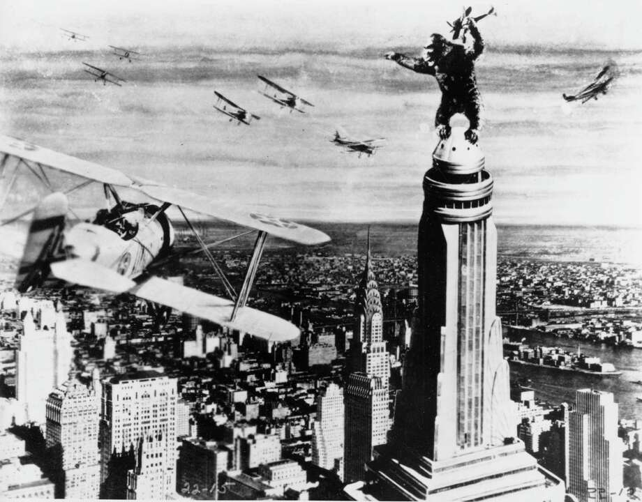 """""""King Kong"""" (1933) featured groundbreaking special effects, including the incredible dinosaurs of Skull Island. / AP"""