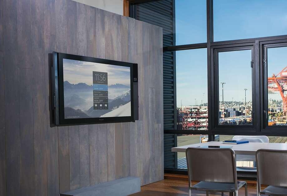 Microsoft's Surface Hub (Microsoft) Photo: Amos Morgan/Microsoft, McClatchy-Tribune News Service