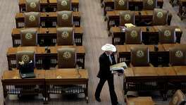 "Rep. Charles ""Doc"" Anderson, R-Waco, leaves the House Chamber after the legislature adjourned on the final day of the session June 1 at the Texas Capitol. A reader expresses disappointment with the legislature, saying it focused on the mundane at the expense of more important issues."