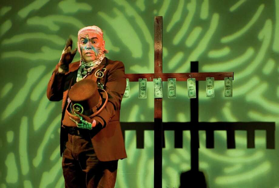 "Jose Torres-Tama deals with immigration in his solo show ""Aliens, Immigrants and Other Evildoers,"" which he will be performing at the Guadalupe Cultural Arts Center. Photo: Courtesy Photo / Courtesy Photo"