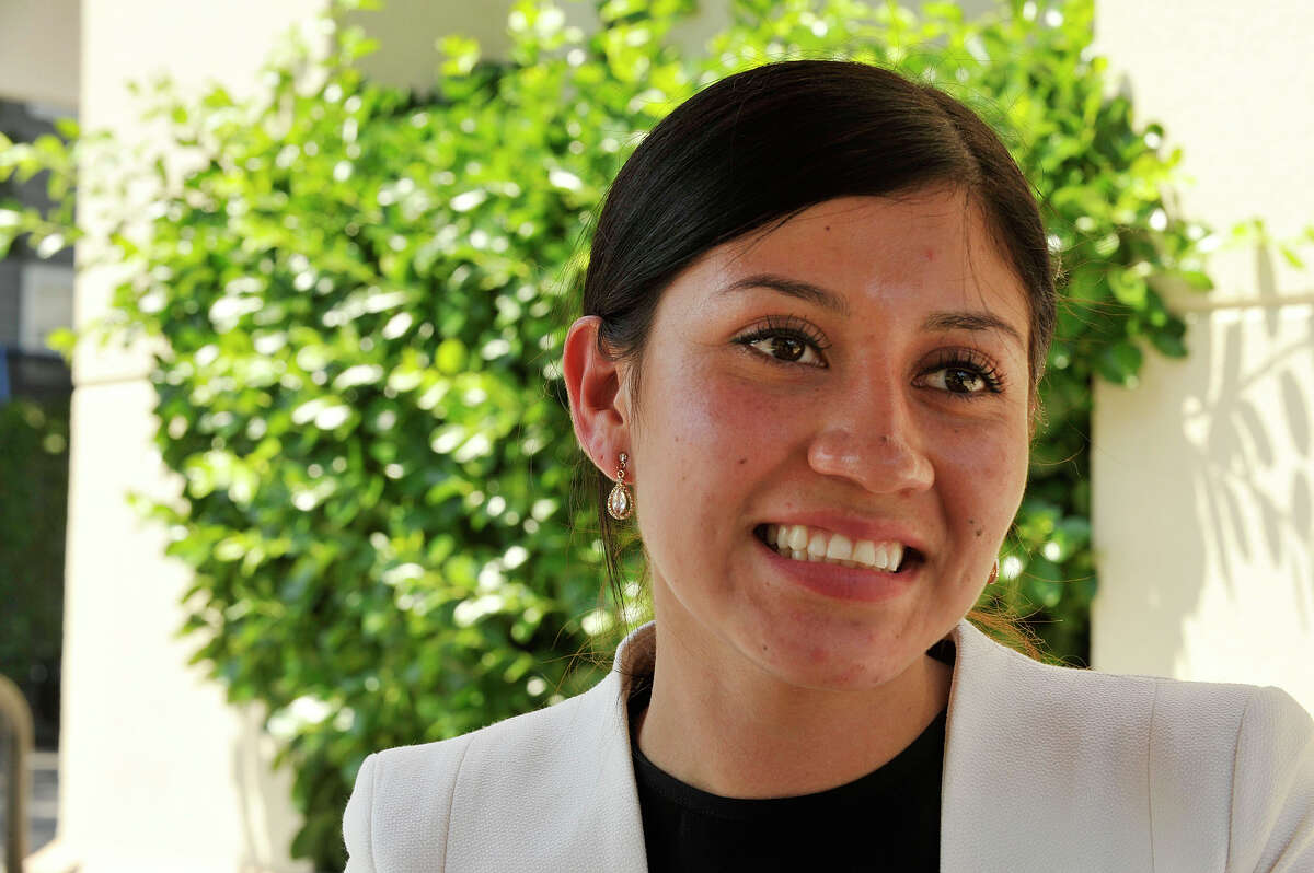 Lesby Ruiz, an immigrant from Guatemala, will be accepting her diploma from the Stamford Adult Education program Wednesday evening at Cloonan Middle School in Stamford, Conn., on June 10, 2015.