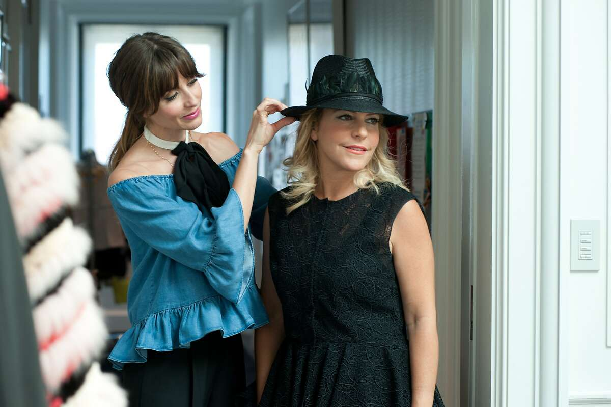 Mary Gonsalves Kinney styling client Suzanne Felson on Monday, June 8, 2015, in San Francisco, Calif.