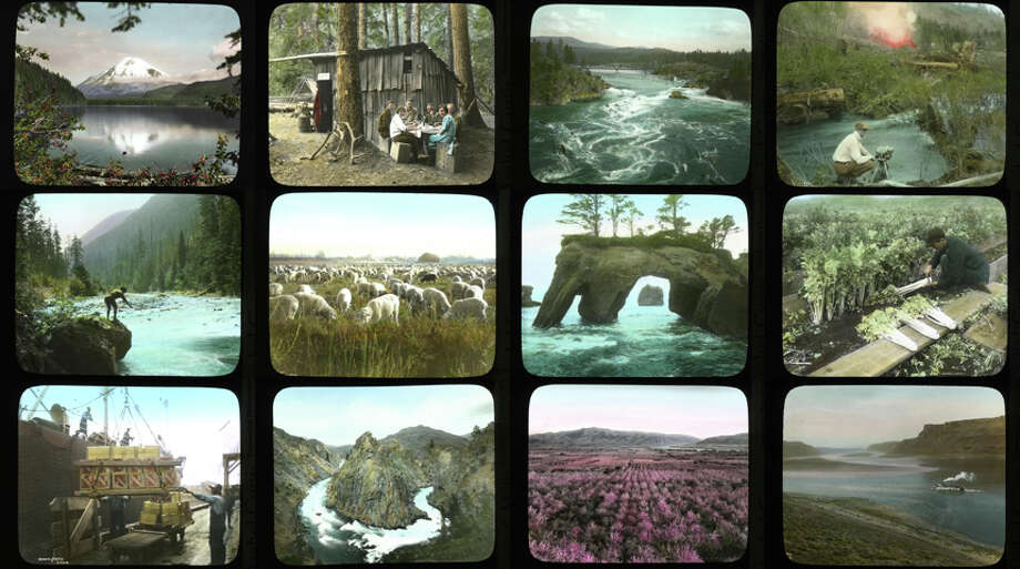 Click through for a look at rare color photos taken by Asahel Curtis, one of Washington's great photographers. The hand-colored lantern slides pictured here are sometimes strange, often beautiful -- think of them as Instagram for the 1920s. Photo: Asahel Curtis / Courtesy Of The Washington State Archives