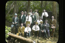 Spokane businessmen on the Mount Spokane Road, pictured between 1920 and 1930.