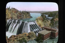 Washington Water Power Company's Long Lake development on the Spokane River, pictured between 1920 and 1930.