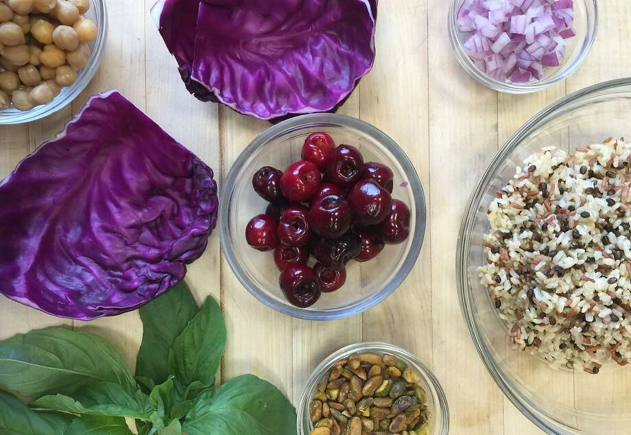 "Use a variety of colors and textures in these simple ""plant-based"" cabbage wraps Photo: Amanda Gold"