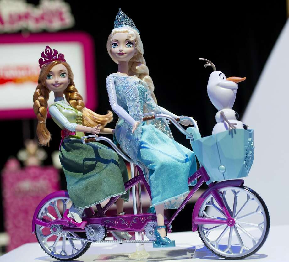 """Frozen"" toy characters are among the entertain ment-licensed products that drove sales last year. Photo: Mark Lennihan, Associated Press"
