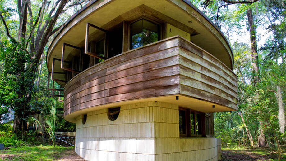 Designed by Frank Lloyd Wright and constructed in 1954, Spring House is the only built private residence designed by Wright in the state of Florida. The novel hemicycle form of Spring House represents a late, and little known, stage in Wright's long, prolific career. Although there are approximately 400 intact houses attributed to Wright throughout the country, only a fraction were from his hemicycle series.  Spring House was recognized as a significant structure and placed on the National Register of Historic Places in 1979, when it was only 25 years old.    Despite its unique design and its association with America's most famous architect, the house is deteriorating and urgently in need of repairs. Exposure to hurricanes and wind storms has led to water intrusion, and the damage is visible throughout the interior of the house.  In addition, tall cypress columns have deteriorated at their bases, and insect and woodpecker damage is apparent on the cypress siding.  Spring House Institute is planning to launch a capital campaign to purchase and restore the house to its original grandeur.