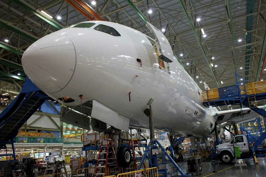 A Boeing 787 airplane is seen during the manufacturing process at the Boeing Co. facility in Everett, Washington,  on Monday, June 1. Boeing is the biggest customer of the Export-Import Bank. Photo: David Ryder /Bloomberg / © 2015 Bloomberg Finance LP