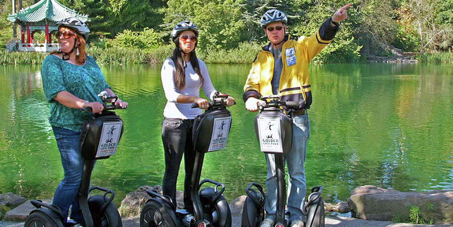 Tour Golden Gate Park on a Segway, after a little practice to get used to handling the two-wheeled vehicles.