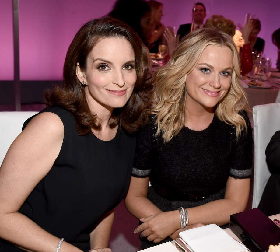 "Tina Fey and Amy Poehler are the best friends we all aspire to be. Smart, funny and fiercely loyal. We've been lucky enough to observe it from the desk of ""SNL""'s Weekend Update to the stage of the Golden Globes. Photo: Michael Buckner, Getty Images For ELLE"