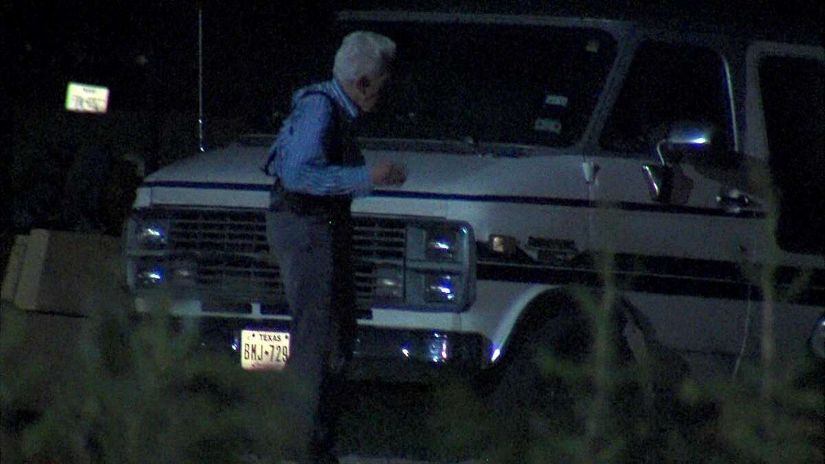 An elderly security guard shot a suspect twice after he tried to break into the guard's vehicle.