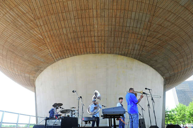 Glen David Andrews and his band bring a lot of New Orleans to Albany at the Empire State Plaza during their Made in the Shade of the Egg lunchtime show on Wednesday June 10, 2015 in Albany , N.Y.  (Michael P. Farrell/Times Union) Photo: Michael P. Farrell, Albany Times Union