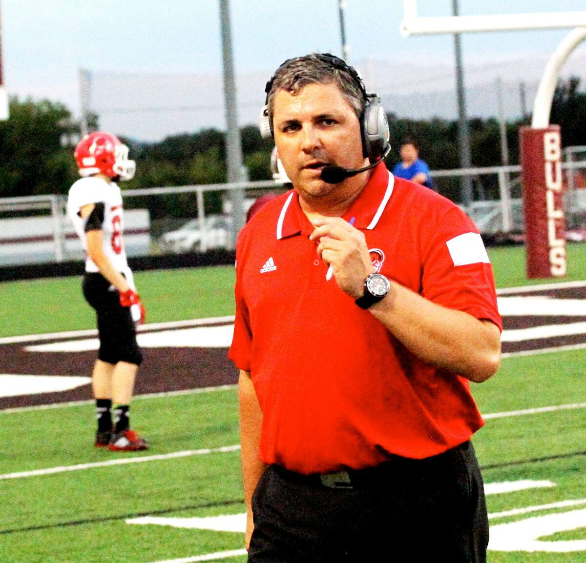 Entering his second year, Mineral Wells High School football coach Gerald Perry has come under fire by players for his handling of the team's quarterback competition. (Photo courtesy Mineral Wells Index)