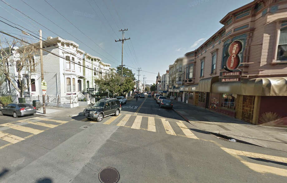 A robber shot himself after robbing a man at 23rd Street and Bartlett Street in San Francisco. Photo: Google Maps