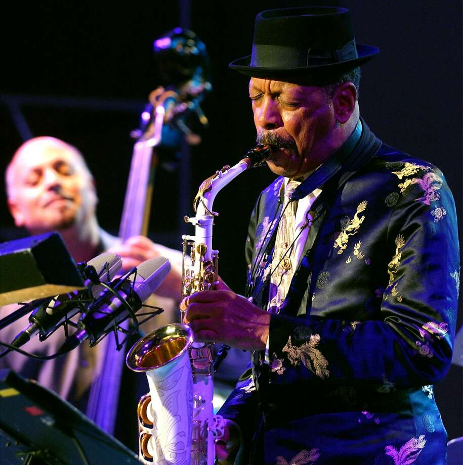 "FILE - In this Monday, Oct. 23, 2006, file photo, jazz musician Ornette Coleman, front, performs with his quartet on the closing evening of the Skopje Jazz Festival, in Skopje, Macedonia. Coleman, the visionary saxophonist who pioneered ""free jazz"" and won a Pulitzer Prize in 2007,  died, on Thursday, June 11, 2015 in New York. He was 85. (AP Photo/Boris Grdanoski, File) Photo: Boris Grdanoski, Associated Press"