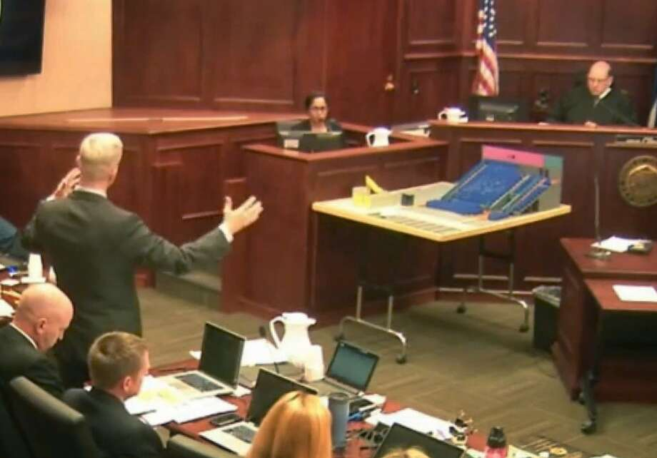 Gargi Datta testifies in this video image that she asked then-boyfriend, theater massacre defendant James Holmes, to see a therapist after he mentioned thoughts about killing people. Photo: Uncredited, Associated Press