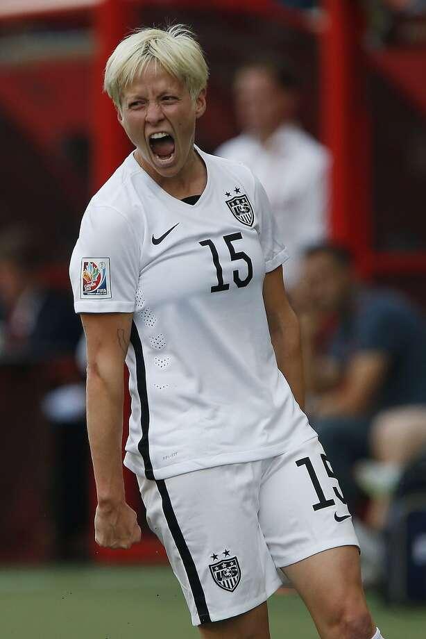 Megan Rapinoe scored twice as the U.S. beat Australia. Photo: John Woods, Associated Press
