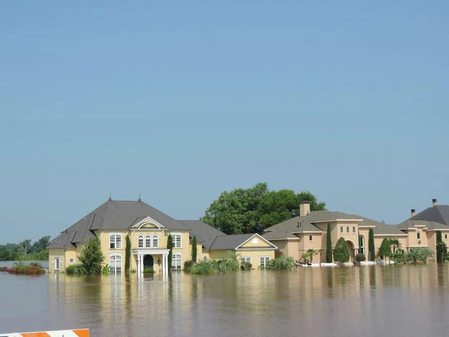 The worst flooding since 1945 along the Red River in northwest Louisiana has left $1 million homes with water inside, June 8, 2015. Photo: Bossier Parish Sheriff's Office / Deputy Josh Cagle