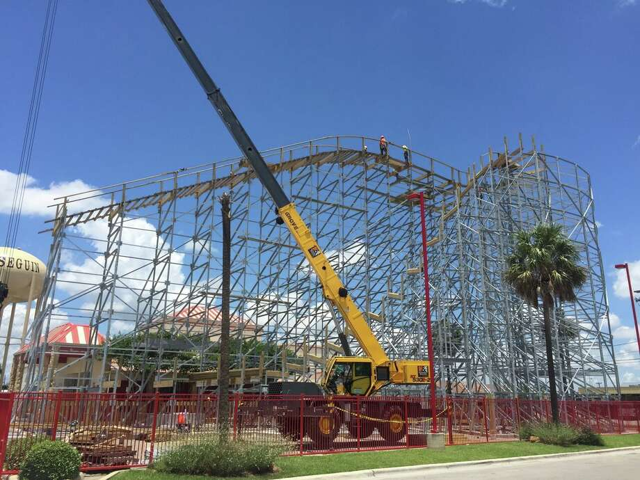 ZDT's Amusement Park owner Sarah Donhauser said the Switchback should be complete in late July or early August. She said the majority of the steel structure holding the track is in place, but the wooden track should be installed in the next few weeks. Photo: Courtesy, ZDT's Amusement Park