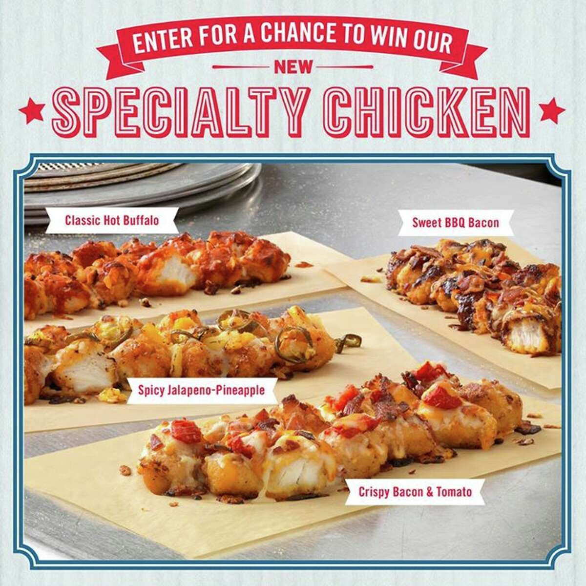 """Domino's Pizza announced in June the launch of the """"specialty chicken,"""" an apparent pizza with a white chicken canvas replacing what would have been a crust. Comes in four flavors of cholesterol surge. Domino's literally headlines press release with, """"Failure is an option."""" Glad you're open to that, Domino's."""