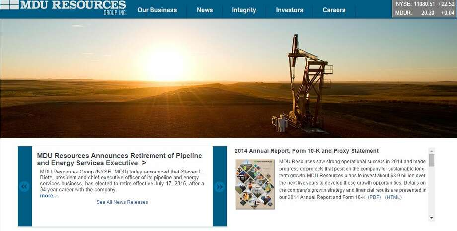 North Dakota - MDU Resources Group Inc.Location: Bismark, North DakotaRevenue: $4.67 billion Founded in 1924, MDU Resources has grown from a small electric facility operating in 48 states. It provides regulated utilities and pipelines, exploration, production and construction materials and services.Source: Broadview Networks, Hoover's Inc., Fortune Photo: Screenshot Of MDU Resources Website