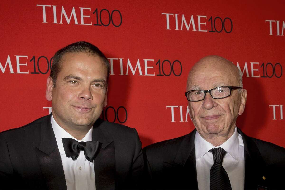 Lachlan Murdoch and Rupert Murdoch: The owners of Fox News may have private doubts about Donald Trump, but the network promotes him from 6 a.m. through prime time in the evening. Photo Credits: Corbis
